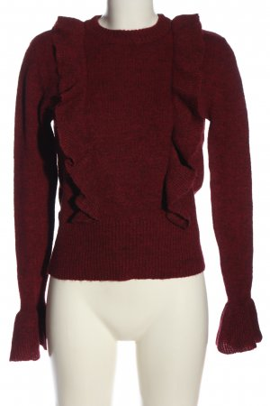 mbyM Rundhalspullover rot meliert Casual-Look