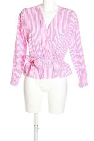 mbyM Schlupf-Bluse pink-weiß Streifenmuster Casual-Look
