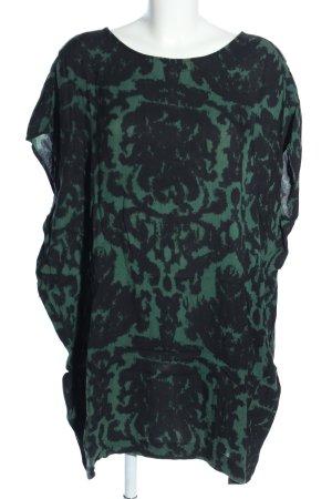 mbyM Shirtkleid schwarz-grün abstraktes Muster Casual-Look