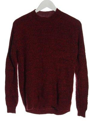 mbyM Maglione lavorato a maglia rosso puntinato stile casual