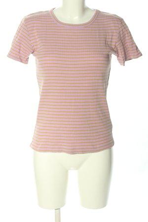 mbyM T-Shirt pink-blassgelb Streifenmuster Casual-Look