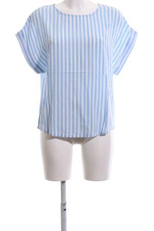 mbyM T-Shirt weiß-blau Streifenmuster Business-Look