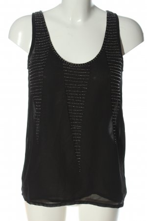 mbyM Blusa transparente negro look casual
