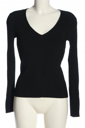 mbyM V-Ausschnitt-Pullover schwarz Casual-Look