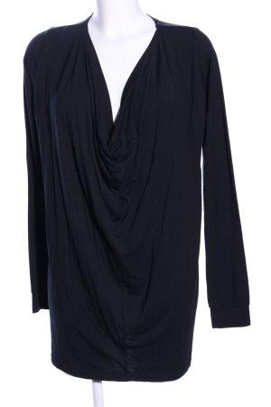 mbyM Camisa con cuello caído negro estilo «business»