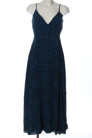 mbyM Robe portefeuille bleu-noir motif de tache style décontracté