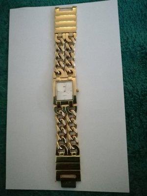 Zegarek z metalowym paskiem złoto Metal