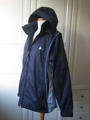 Mc Global Damen Jacke Gr. S / M / 38 / 40 blau Windjacke Outdoor mit Kapuze