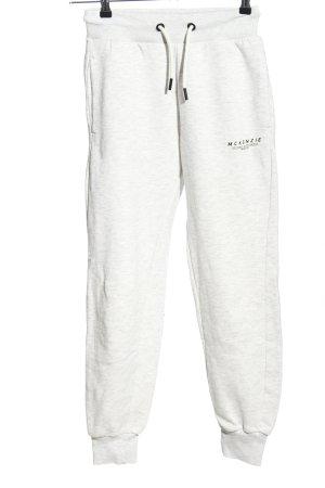 Mc kenzie Pantalón deportivo gris claro-negro letras impresas estilo deportivo