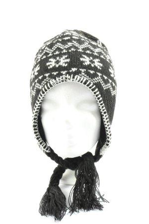 Mc Kinley Bonnet cache-oreilles noir-blanc motif graphique style décontracté