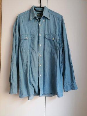 True Vintage Oversized Blouse azure-blue