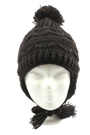 McBurn Bonnet cache-oreilles noir torsades style décontracté