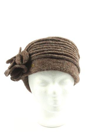 McBurn Woolen Hat brown weave pattern casual look