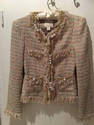 McGINN for NORDSTROM Elizabeth Metallic Boucle Tweed Jacke 6 S 36