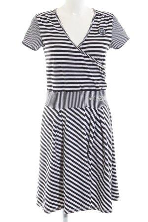 McGregor A-Linien Kleid schwarz-weiß Schriftzug gedruckt Casual-Look
