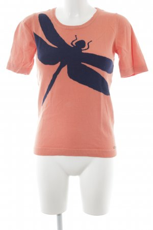 McGregor Strickshirt orange-blau Logo-Applikation