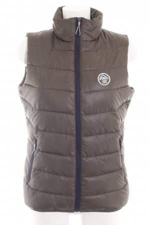 McKinley Quilted Gilet brown quilting pattern casual look