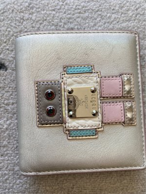 MCM Wallet silver-colored-baby blue leather