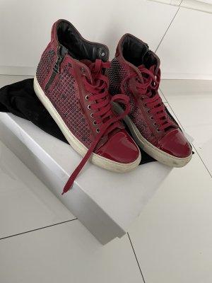 MCM High Top Sneaker dark red