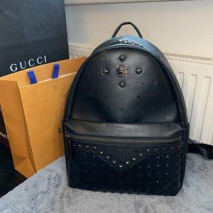 MCM Mini sac à dos noir cuir