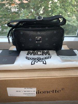 MCM Gekruiste tas zwart Leer