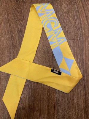 MCM Panno di seta giallo-grigio