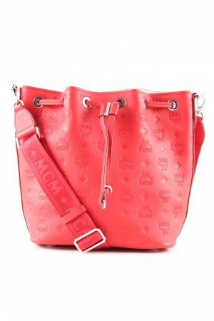 MCM Beuteltasche rot Motivdruck Business-Look