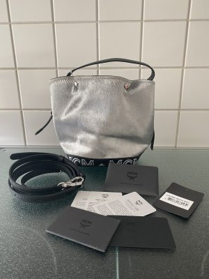 MCM Beuteltasche Bucket Bag silber