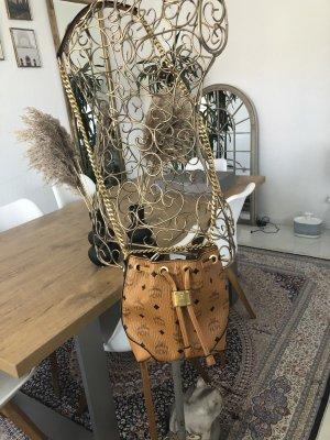 MCM Sac seau chameau-rose chair