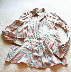 MCM Silk Blouse pink-light blue silk