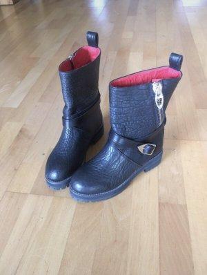MCM Chukka boot noir-rouge