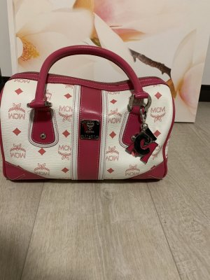 MCM Bowling Bag white-neon red