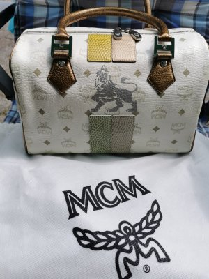 MCM Bowling Bag Sonderedition Lions, Gold-Pastell