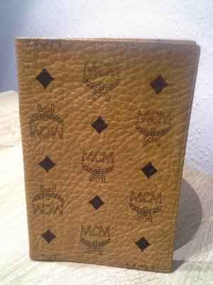 MCM Card Case black-cognac-coloured