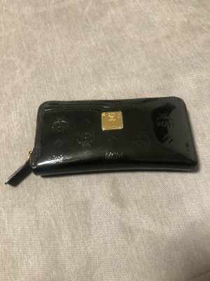 MCM Brieftasche Portemonnaie Lack schwarz