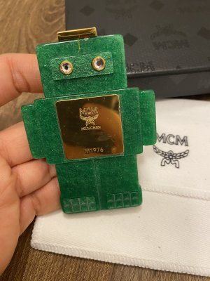 MCM Brooch green-gold-colored