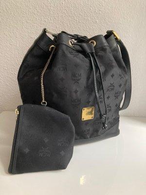 Mcm bucket bag, schwarz