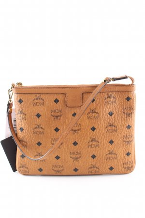 MCM Clutch braun Allover-Druck Casual-Look