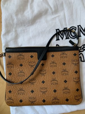 MCM Clutch cognac-coloured-black
