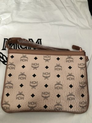 MCM Pochette rose-gold-coloured