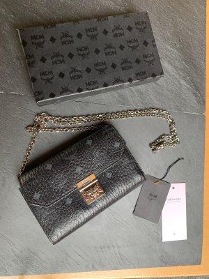 MCM Clutch Umhängetasche Crossbodybag Monogramm schwarz Handtasche