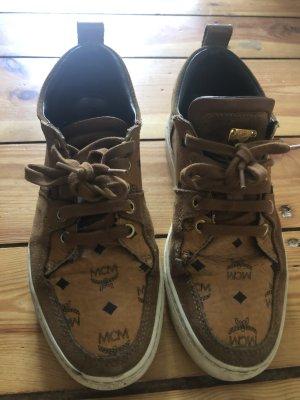 Mcm coqnac sneaker Low Schuhe Leder Braun 36 37 Monogram