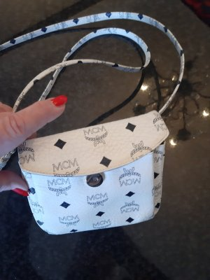 MCM Mini Bag white-dark blue