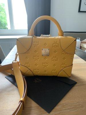 MCM Crossbody bag gold orange-gold-colored leather