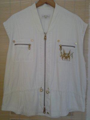 MCM Smanicato jeans bianco-oro