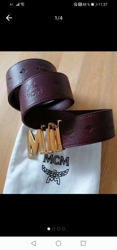 MCM Cintura di pelle multicolore Pelle