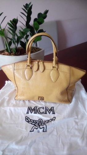 MCM Sac Baril orange doré