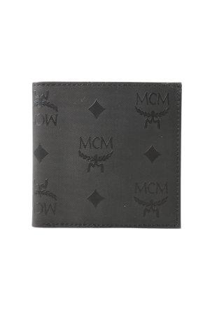MCM Portemonnee zwart volledige print casual uitstraling