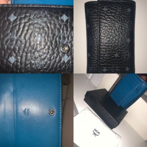 MCM Portemonnee zwart-blauw