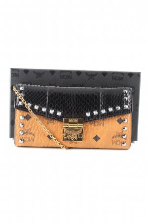 MCM Wallet black-brown themed print business style